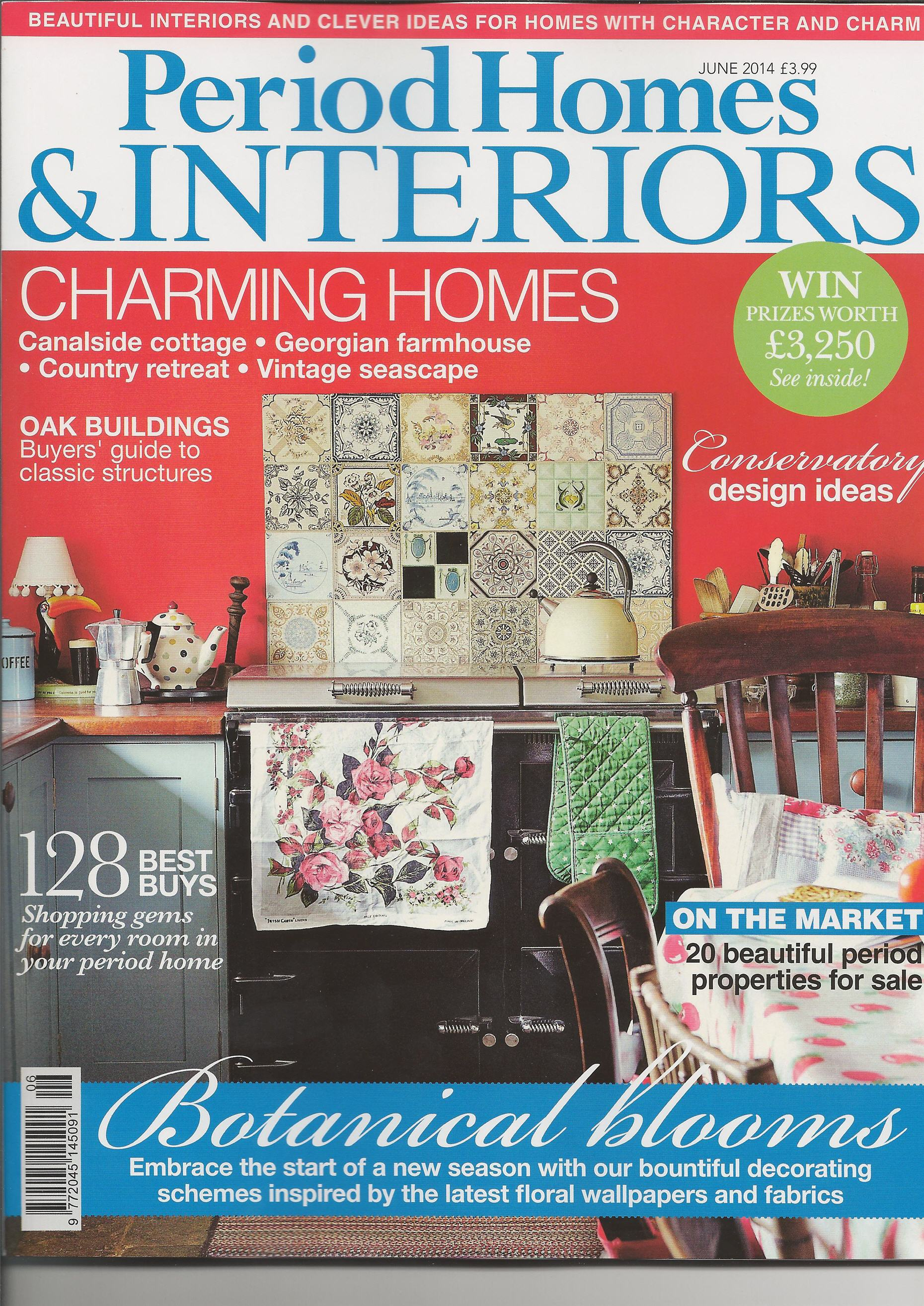 Period Homes & Interiors Magazine Recommends Hunter 1886 Ceiling Fan