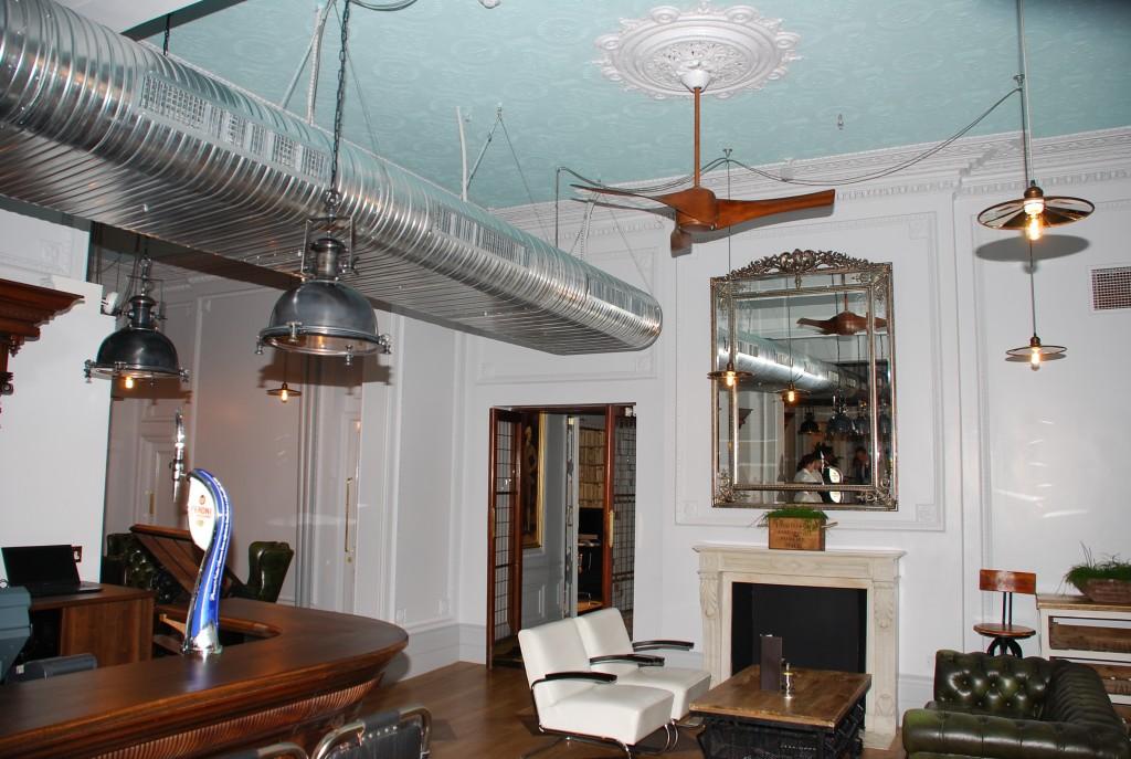Artemis ceiling fans in Raddison bar