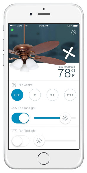 Ceiling fan phone remote control