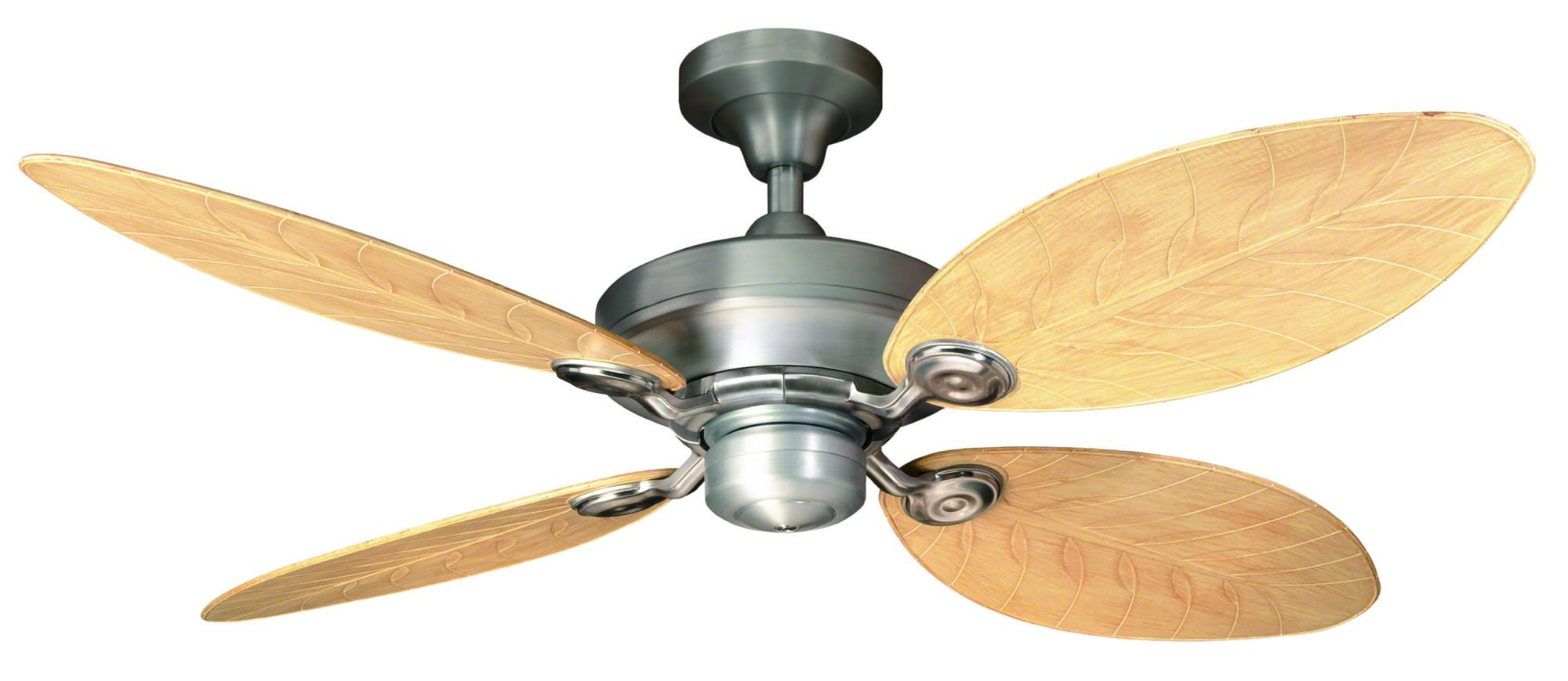 Hunter Outdoor Elements Ceiling Fan In Raw Aluminum Half
