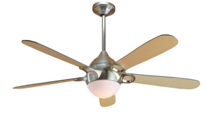 """Hunter Lugano 52""""/132cm Ceiling Fan with Light in White or Brushed Nickel - 5 blades, Lifetime Warranty"""