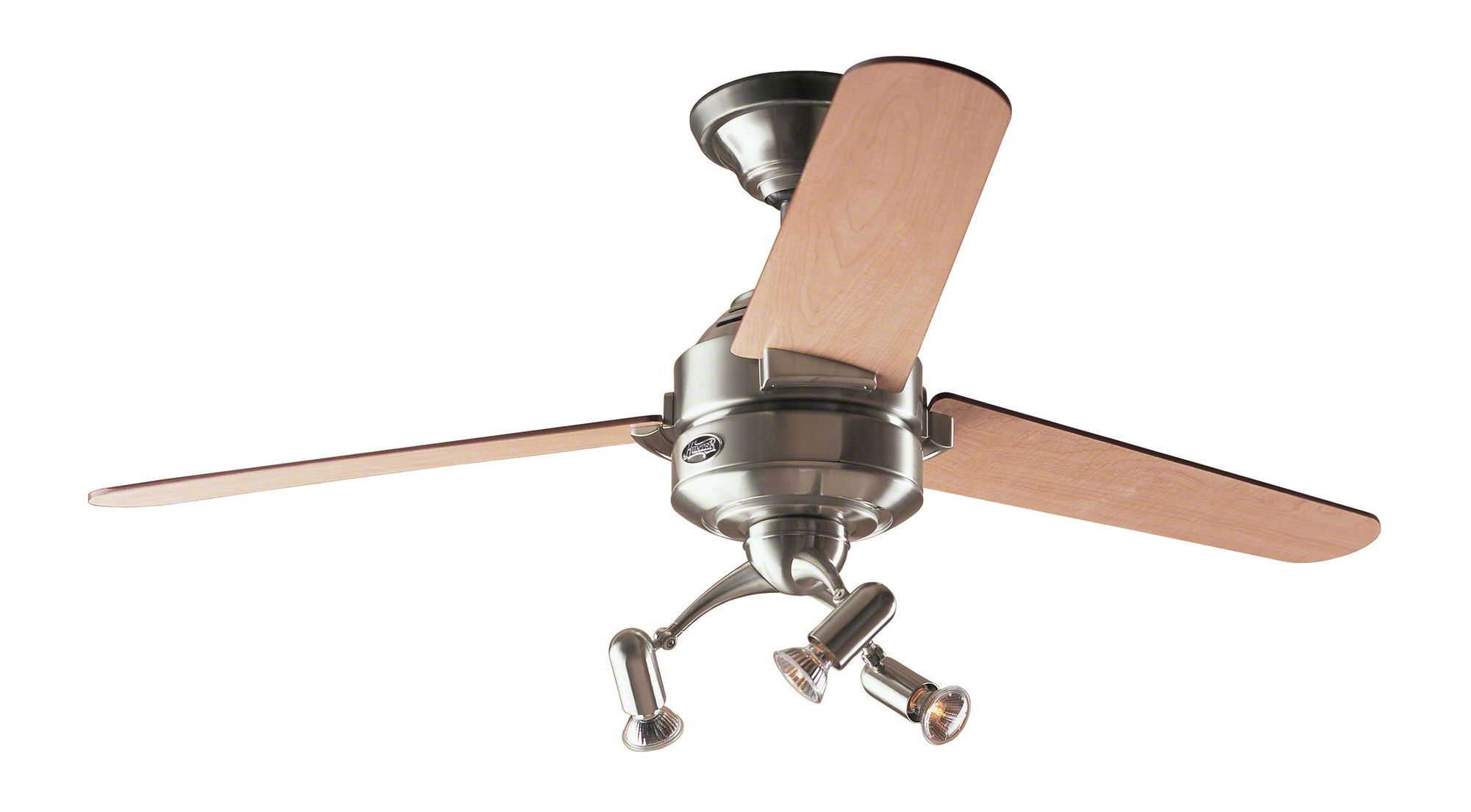 Hunter Carera Ceiling Fan In Brushed Nickel With Free Light Kit And Drop Rod Bargain 60 Off