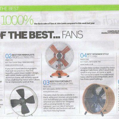 Hunter Rockefeller Desk Fan - 10 Year Warranty Last Few.