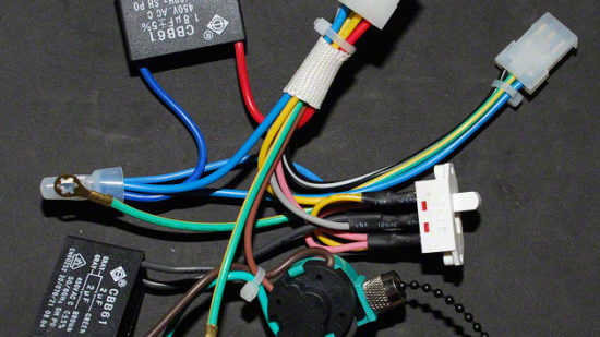 Hunter Ceiling Fan Control Wire Harness Repairs - Start & Speed Capacitors, Reverse & Speed Switches