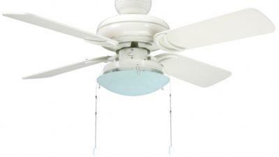 "Star Hugger Ceiling Fan With Light Kit 42""/107cm in Titanium or White, 10 Year Warranty"