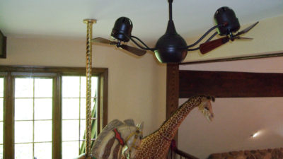 Matthews-Atlas Acqua Double Rotational Twin Headed Ceiling Fan