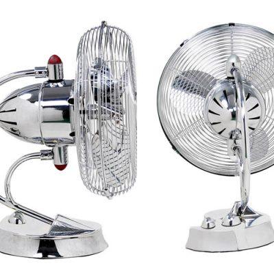 Matthews-Atlas Cinni Art Nouveau Oscillating 3-Speed Desk Fan, Damp Location - 60% off