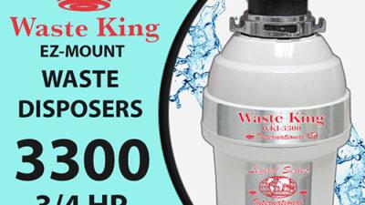Waste King WKI-3300 Disposal Unit, 3/4 Hp Lifetime Warranty