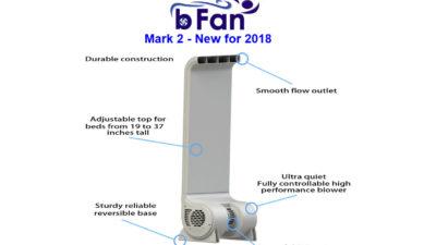 The Cool Sleep bFan Bed Fan – 240v, 10 Year Warranty