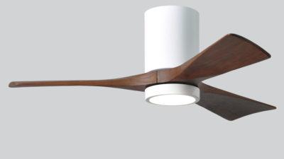 "Matthews Irene 3H Hugger with LED Light 42"",52"",60""- Low Energy DC Ceiling Fan, Lifetime Warranty"