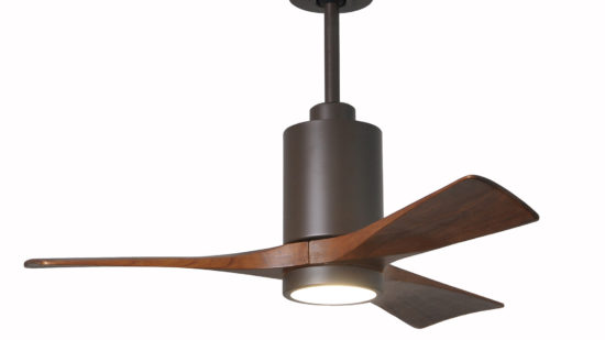 "Matthews Patricia Low Energy DC Ceiling Fan with LED Light Kit - 52"", 42"", Lifetime Warranty"
